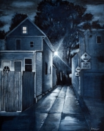 """The Laneway Home (2019), 40x30x1.5"""", SOLD"""
