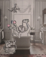 Welcome to my glamorous imaginary room de bain in Paris!  I never run out of hot l'eau and the towels are always thick and fluffy. The cupboard is full of overly priced crams and soaps made...guess? In Paris of course!  Isolation can smell tres bon!