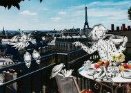 """Whenever I'm feeling a bit """"Les Miz"""", I have breakfast on my imaginary balcony in Paris. I drink a bon espresso and make friends with the French wildlife. Nature always restores my joi de livre!"""