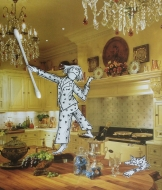 I have an imaginary cuisine extraordinaire and a formidable French chef of course! She insists on good lighting when preparing meals. I have chandeliers in every room. I am tres chic.