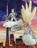 OMG!!!! David Bowie has descended from the CN tower in a dream to tell me I've been accepted into the Toronto Outdoor Art Fair. (Now an online fair). I better wake up as I've got to get to work painting! Merci beaucoup David Bowie!