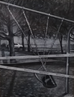 Summer of 2020 in Withrow Park (2020), 14x11x1, $450